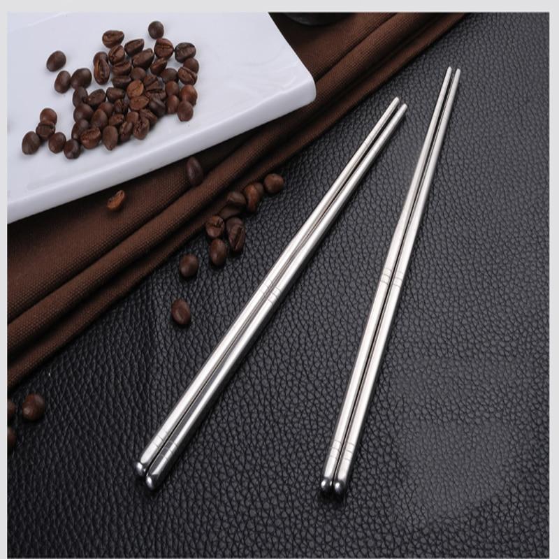 Nowe metalowe pałeczki ze stali nierdzewnej unikalny styl chop stick stop metali okrągłe pałeczki domowe sztućce kuchenne pałeczki 5 par