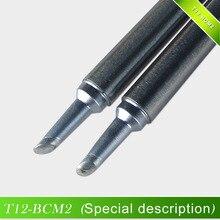 Quicko Hoge Kwaliteit T12-BCM2 Soldeerbout Tip Bevel Met Streepje/Hoefijzervormige BCM2 Tip Met Groef/Vorm 2BCM