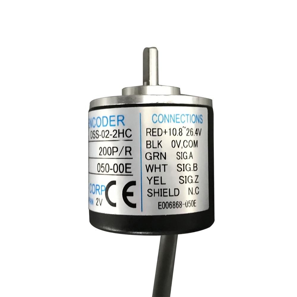 new el58b1024z5 28n10x3ma eltra rotary encoder 6mm solid shaft 1204 pulse npn interface incremental encoder New 30mm outer size NEMICON mini encoder 4mm solid shaft encoder 100 200 360 500 pulse incremental encoder sensor OSS-02-2HC