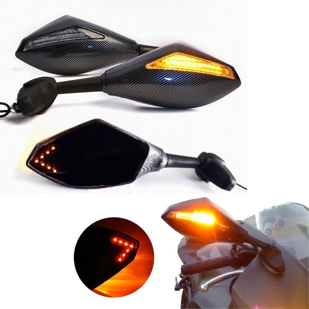 Evomosa мотоциклетные Светодиодные поворотники зеркальные огни зеркала заднего вида для Kawasaki Ninja 250 500 Zx 6r 10r 12r Zx-14 Zx-rr Zx600