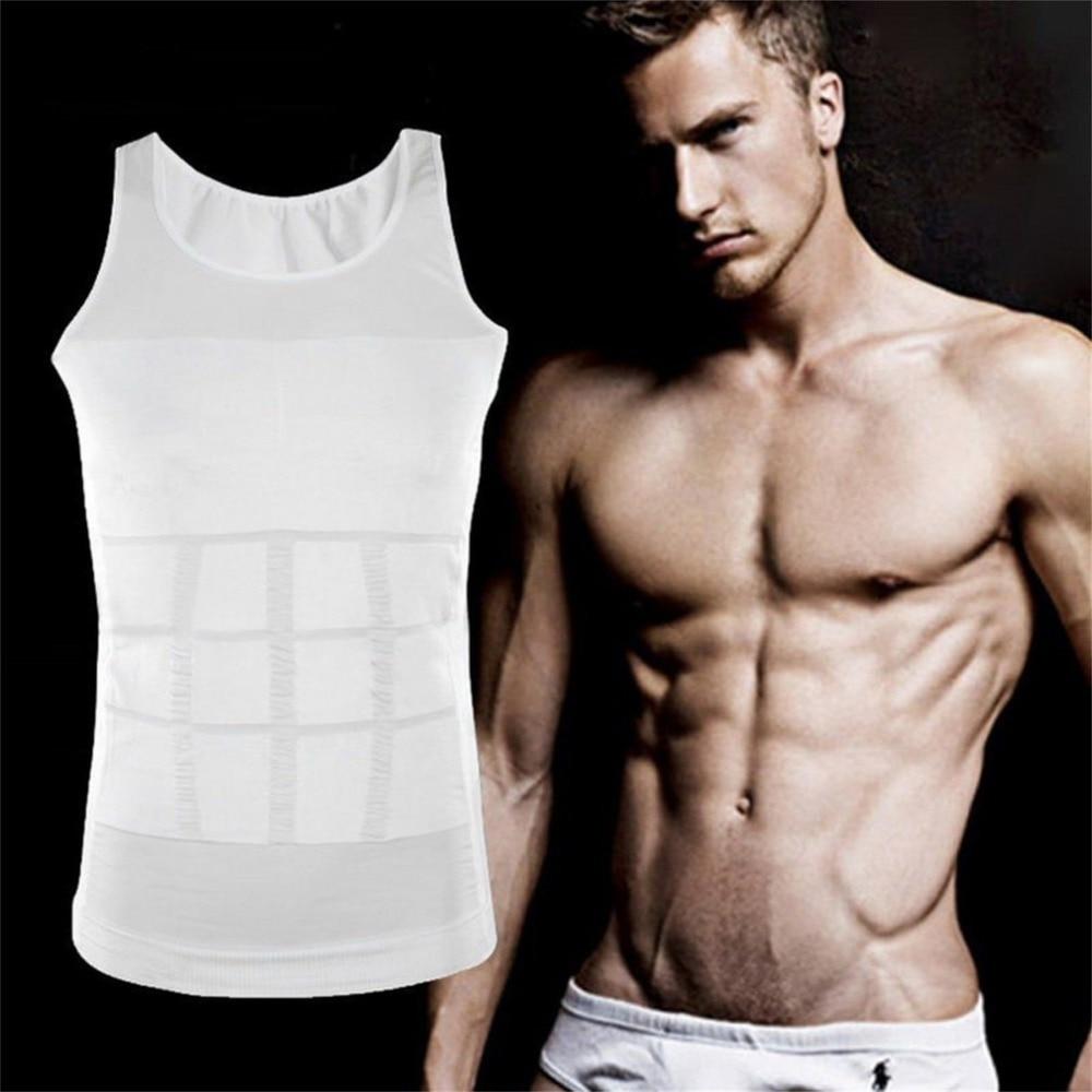 Corsé para hombre, corrector de postura para adelgazar, corsé de apoyo en la espalda, chaleco moldeador abdominal, faja para la cintura, camisa, ropa interior moldeadora