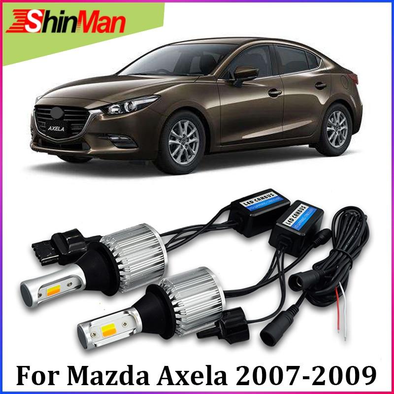 ShinMan 2x WY21W T20 del coche LED luz de giro para Mazda 3 Axela 2014-2017-LED DRL luz corriente diurna luz de señal de giro