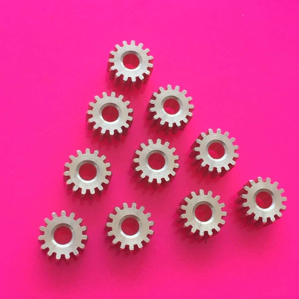 10 pçs k874y latão 15 t engrenagens 0.5 módulo diâmetro de abertura 2.97mm adendo círculo diâmetro 8.5mm diy modelo peças