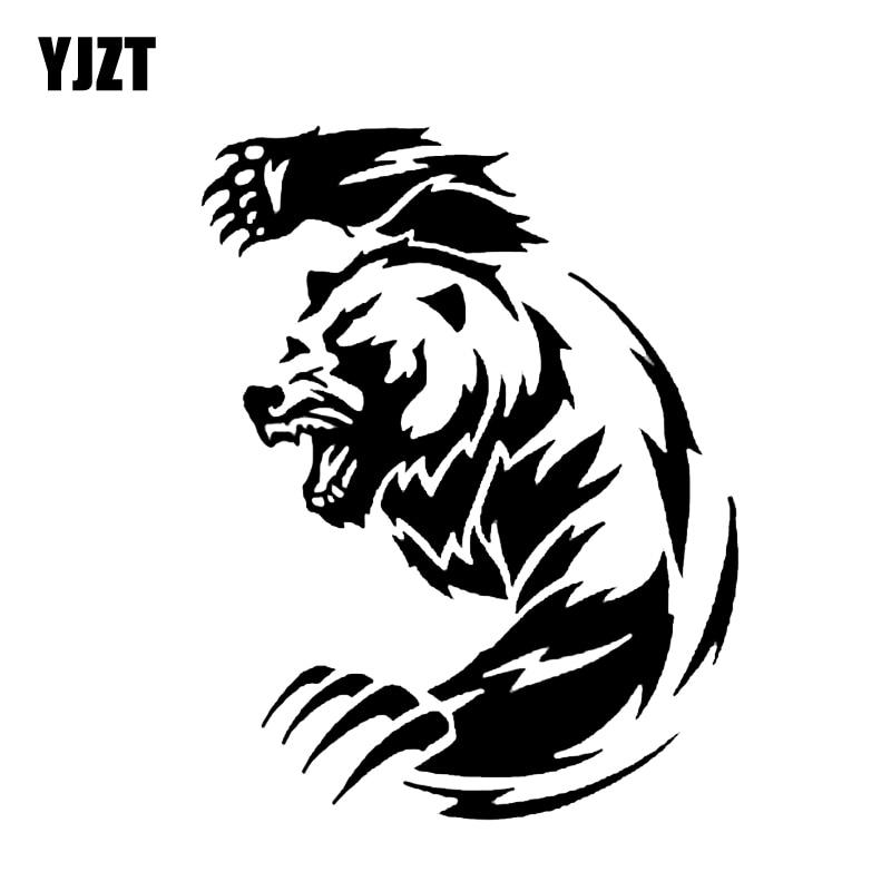 YJZT 11,9*14,8 см Angry Bear Животные стикер автомобиля винил декоративный элемент для бампера окна C12-0394