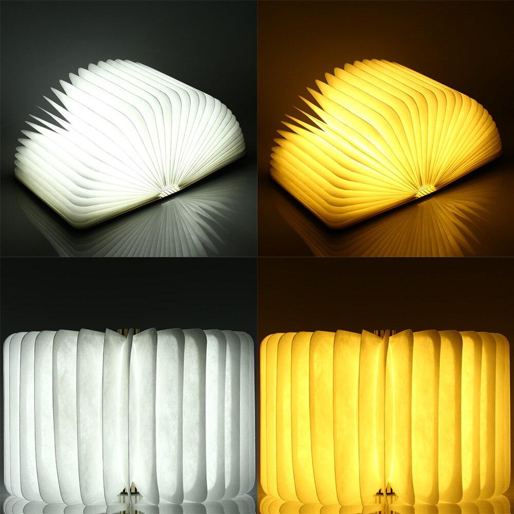 led candeeiro de mesa de madeira dobravel livro luz da noite dobravel recarregavel