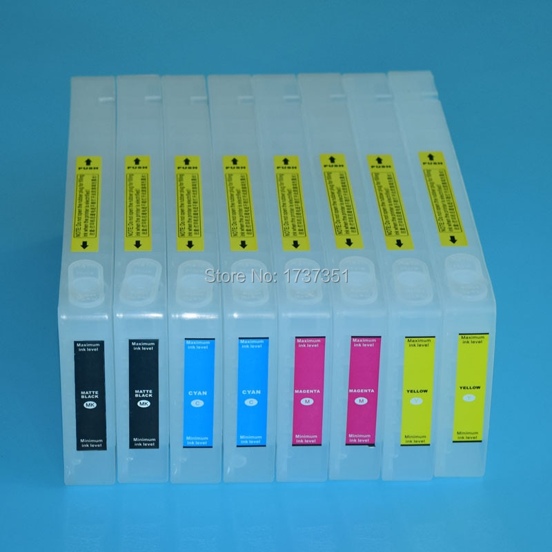 T6122 T6122-T6128 Para Epson Stylus Pro 7450 cartucho de tinta de recarga com chips reajustável e resetter chip 2*4 cor 350 ml