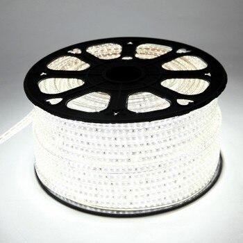 100 metros/rollo blanco frío 3014 LED tira 110V 120V impermeable IP65 flexible 120 LEDS/metro + 10 enchufes interior proyecto cuerda