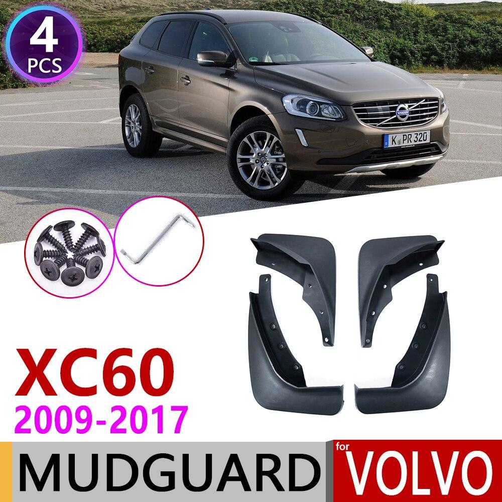 Guardabarros de coche para Volvo XC60 2009 ~ 2017 guardabarros solapa salpicaduras guardabarros accesorios 2010 2011 2012 2013 2014, 2015, 2016,
