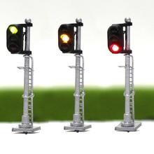 JTD1503 3 uds, modelo de semáforo, señal de tren de 3 vías, señal de bloque de 2 luces, escala 1: 150 N, modelado ferroviario