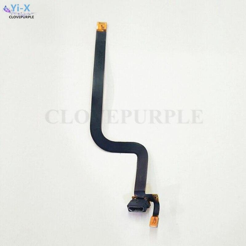 1 piezas Micro USB cargador Puerto conector de enchufe micrófono cinta Cable flexible para Nokia Lumia 920