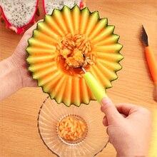 Outils de sculpture à double tête   Boule de fruits, cuillère bricolage couteau créatif pour sculpture de fruits, boules de Melon, gadgets de cuisine 2020
