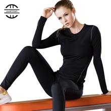 Couche de Base Fitness Sport chemise séchage rapide femmes manches longues haut Gym jogging dame T-shirt Train entraînement vêtements blanc Yoga chemise