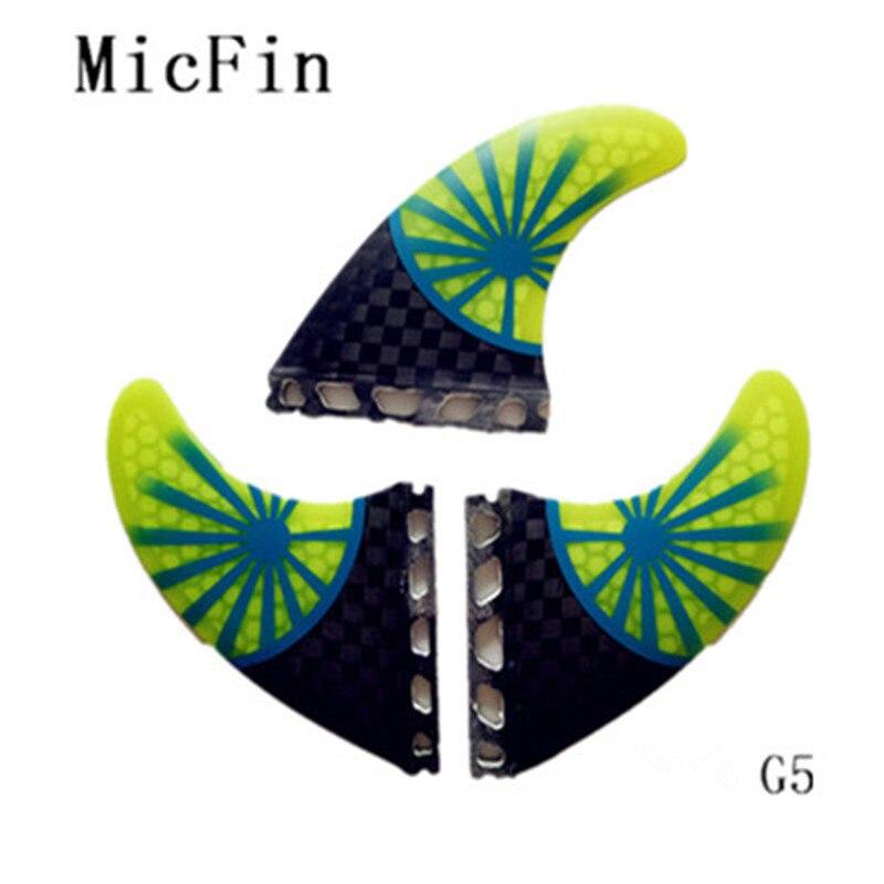 Micfin surf aleta future s medio 3 unids/set de fibra de vidrio de nido de abeja aletas tabla de surf pranchas de surf quilhas aleta future