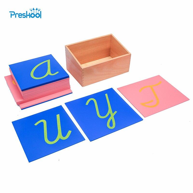 Preskool Baby Toy For Children Montessori Sandpaper Letters Capital Case Cursive with Box Brinquedos Juguetes