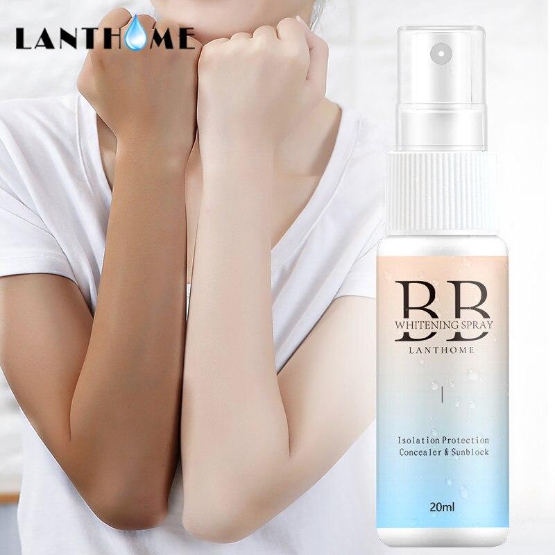 20 blanqueamiento ml cuerpo protector solar BB Spray corrector humectante crema facial base portátil perezoso cosméticos de maquillaje de belleza