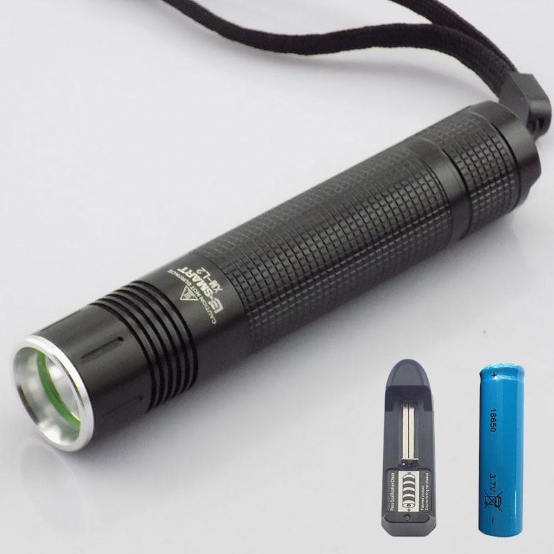 XM-L2 2000 lumenów mini latarka led latarka linterna LED o wysokiej jasności linternas akumulator 18650 bateria + ładowarka domowa