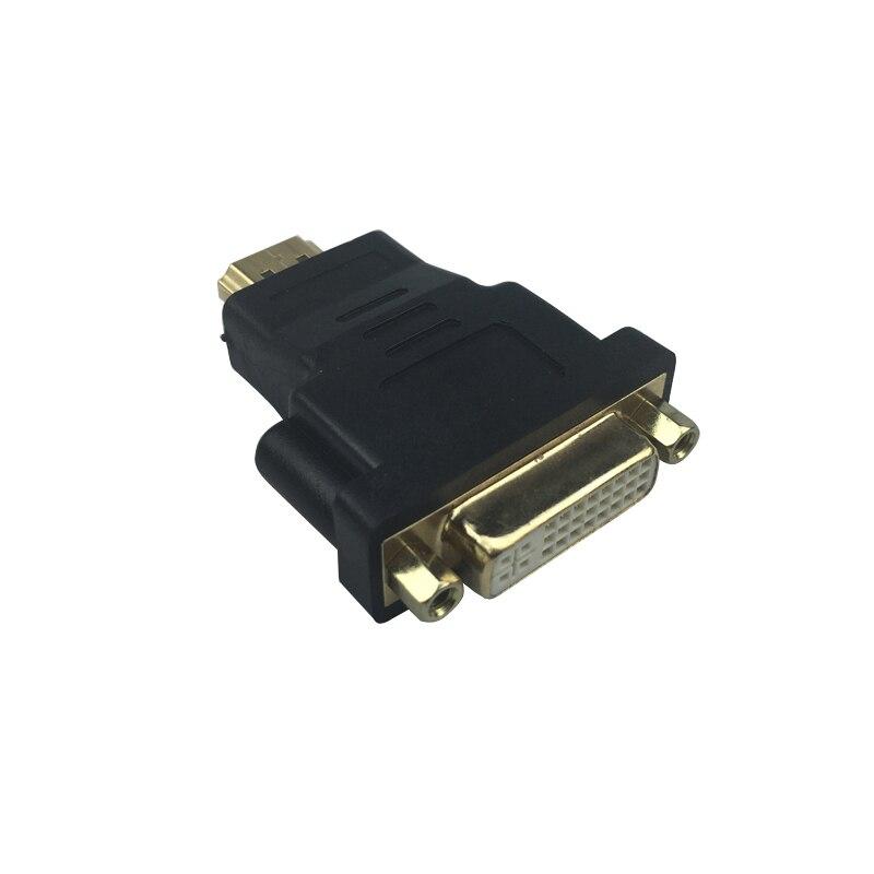 SHCHV HDMI a DVI adaptador conector macho a macho Convertidor para 1080 P HDTV PC portátil