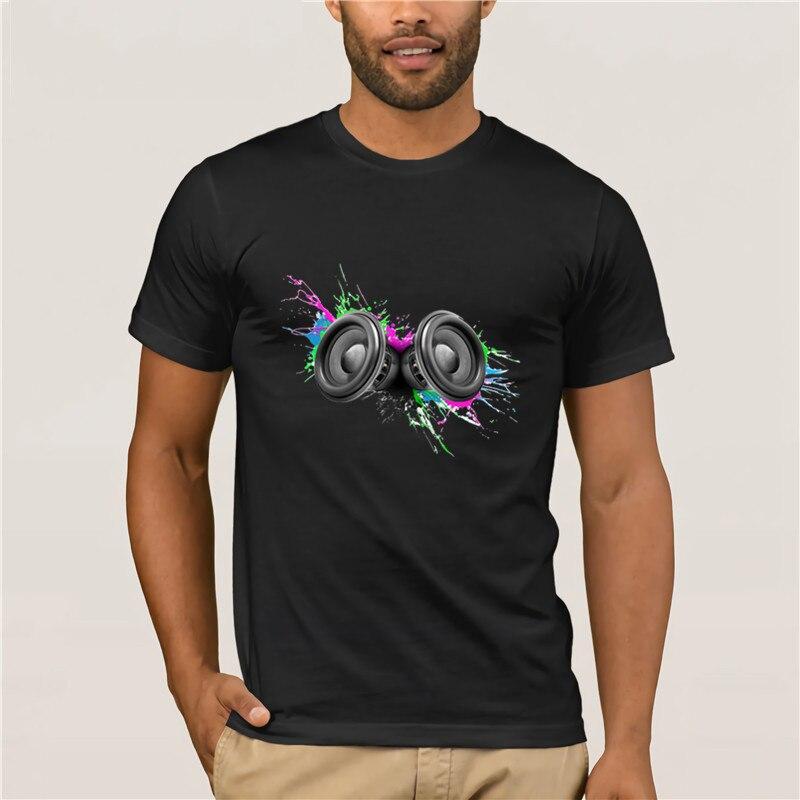 Camiseta de verano para hombre, altavoces de música, diseño colorido, camiseta transparente para hombre johan swanepoel