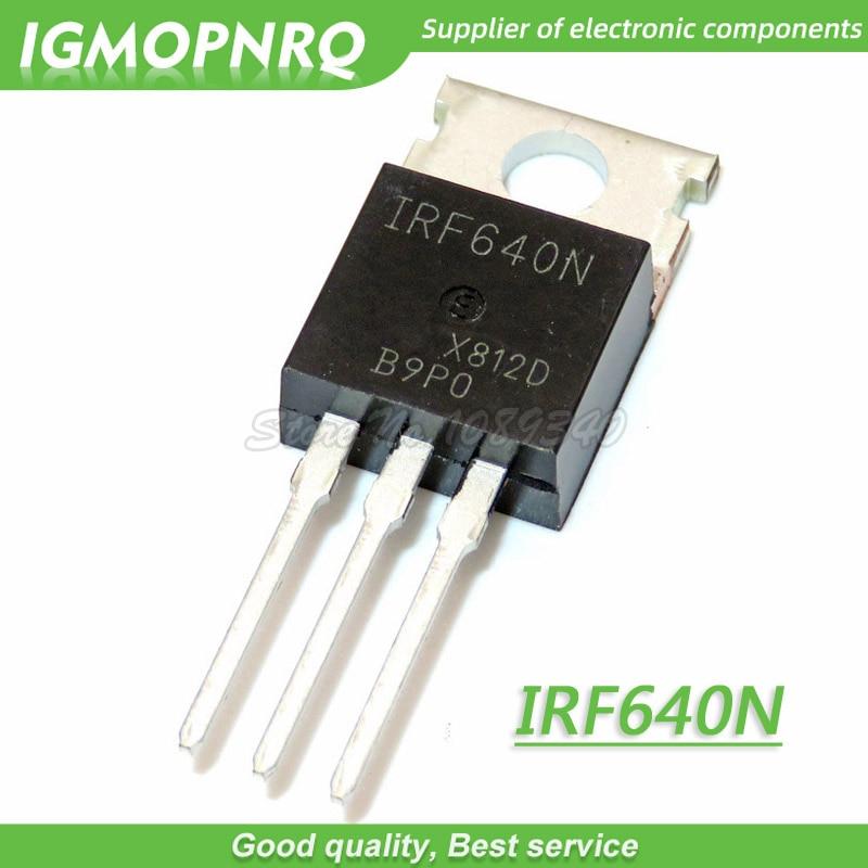 10 stücke IRF640N IRF640 IRF640NPBF MOSFET MOSFT 200V 18A 150mOhm 44.7nC ZU-220 neue original