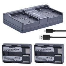 2 pièces BP-511 BP511 BP 511 BP-511A Batterie + Chargeur Double pour Canon G6 G5 G3 G2 G1 EOS 300D 50D 40D 30D 20D 5D MV300i Appareil Photo Numérique