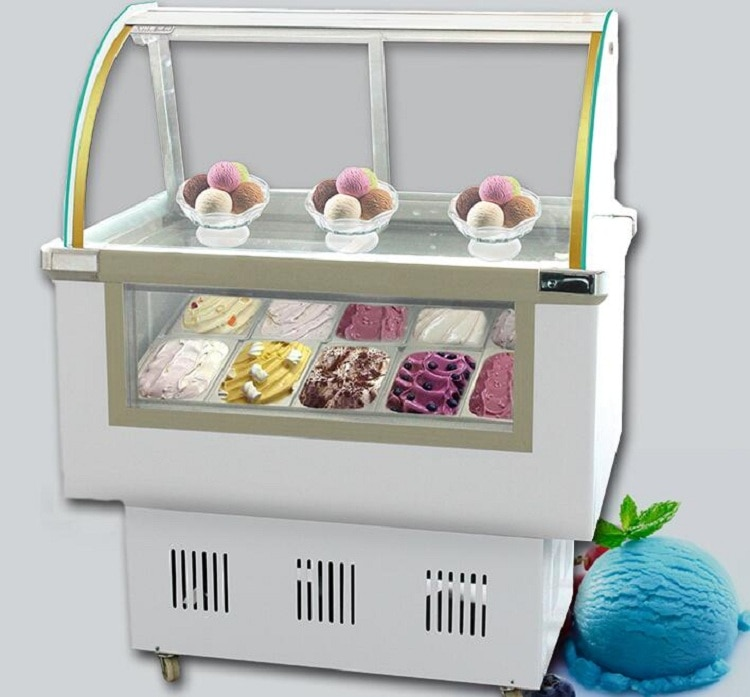 Modelo Económico helado escaparate de la exhibición de hielo-lolly congelador pantalla refrigerador