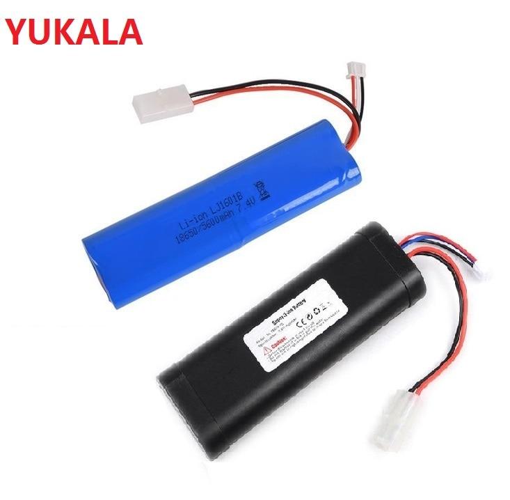 YUKALA henglong 3818, 3819, 3838, 3839, 3869, 3878, 3879, 3888, 3898, 3899, 3909, 3918, 3938, 1/16 RC tanque de 7,4 v 1800mah batería de Li-ion/USB