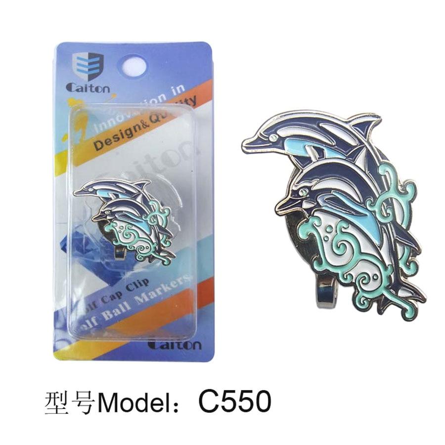 golf hat clip golf marker Dolphin pattern Golf accessories golf Fans supplies