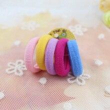 Bracelet élastique pour cheveux filles et enfants   50 pièces/lot, accessoires pour cheveux, corde, anneau de cheveux,, vente en gros