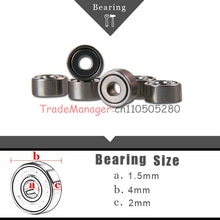 RC Car Practical Brand new imported bearings 1.5*4*2 10PCS Miniature Radial Ball Bearings Accessorie