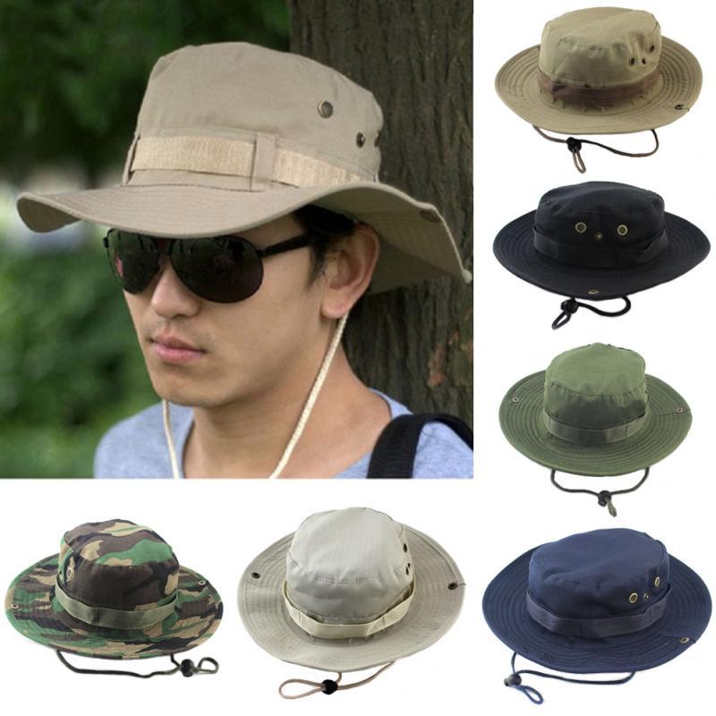 Boonie táctico sombrero de caza del ejército gorro Boonie Airsoft camuflaje caza gorra Sunshine al aire libre senderismo sombrero