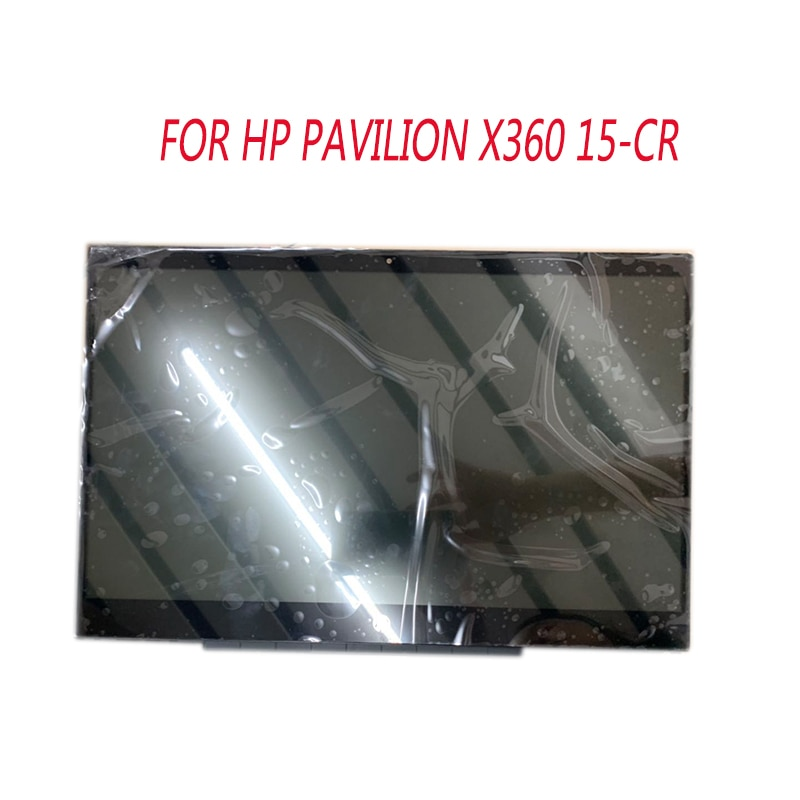 Para HP Pavilion x360 15-cr0002ng 15-cr lcd montaje con marco táctil bisel 15,6 pulgadas ordenador portátil lcd pantalla táctil montaje