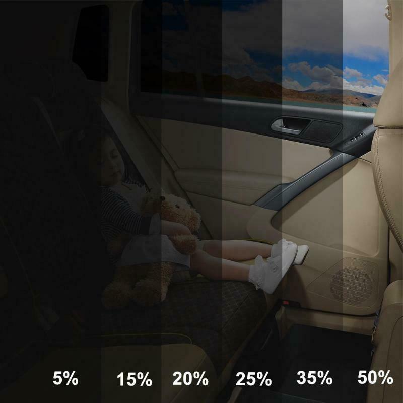300x50cm VLT negro coche ventana hogar vidrio tintado película rollo ventana lateral Solar UV protección pegatina cortina raspador