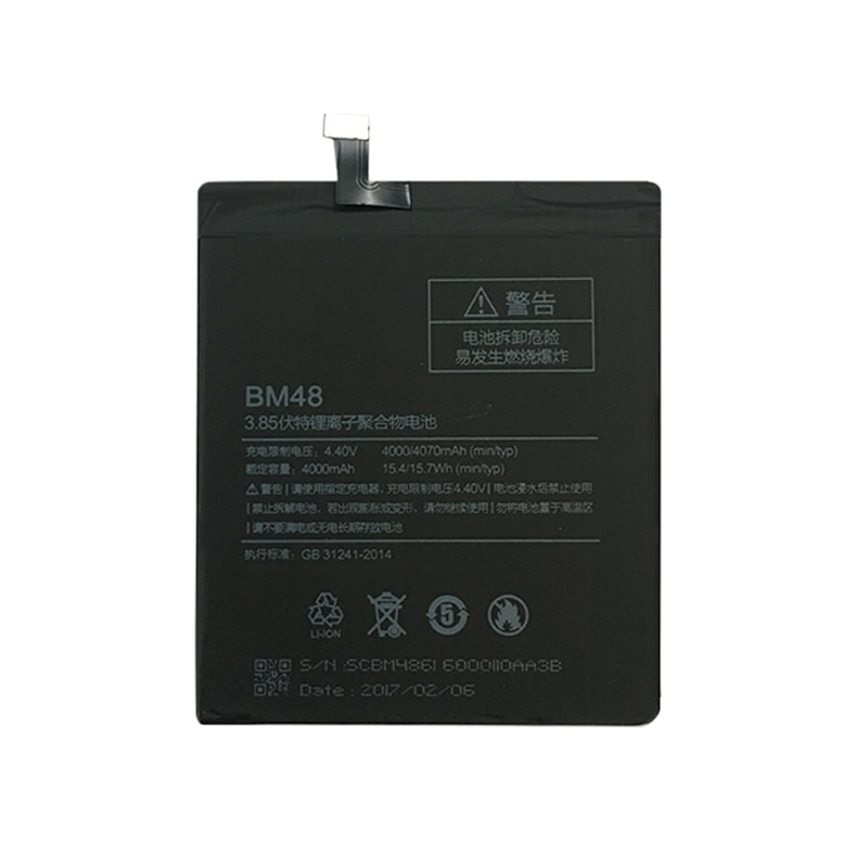Battery BM48 For Xiaomi Note 2 Note2 Replacement Battery 4000mAh High Capacity Phone Batteries enlarge