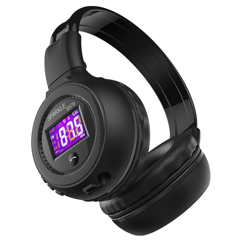 ZEALOT-سماعة رأس استريو B570 مزودة بتقنية البلوتوث وسماعة رأس لاسلكية وشاشة LCD وراديو FM وبطاقة TF وتشغيل MP3 وميكروفون