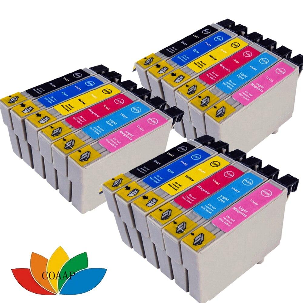 3 Set Compatible T0487 T0481-T0486 cartucho de tinta para EPSON Stylus Photo RX590 R200 RX600 R300 R340 RX500 RX620 impresora