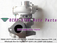 SUBARU Forester Impreza 58T EJ20 EJ205 2.0L 210HP   Livraison gratuite TD04L 49377-04200 04200 14412AA231 14412-AA231, Turbo