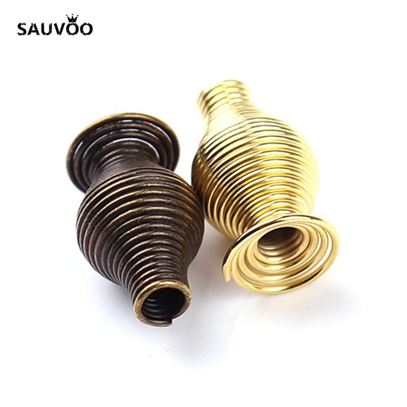 SAUVOO 50 pçs/lote Vaso Forma Charms Beads 16 milímetros Antique Bronze Ouro Cor Prata para DIY Colar Pulseira Jóias Fazendo F2029