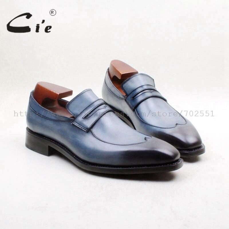 Cie-نعل خارجي من جلد العجل الأصلي للرجال ، حذاء بمقدمة مربعة مع نعل مسطح ، مسامي ، غير رسمي ، بدون أربطة ، مصنوع يدويًا ، 100% ، 164/ 163