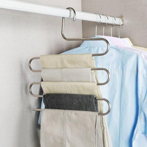 Pantalones multiuso percha para colgar ropa 5 capas ahorrador de espacio para el hogar G