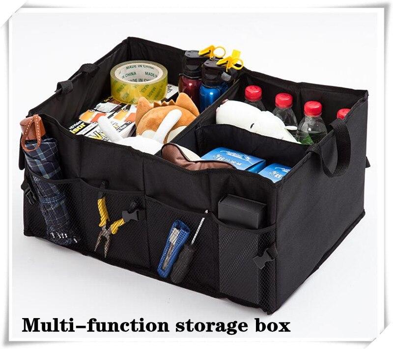2018 caja de almacenamiento plegable trasera para coche, almacenamiento portátil para skoda Octavia opel astra j golf mk2 audi a4 b9 mazda cx5 hyundai i30