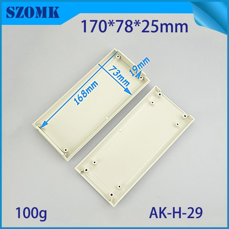 10 pieces, 170*78*25mm plastic instrument enclosure housing szomk plastic box for electronics GPS tracker project box