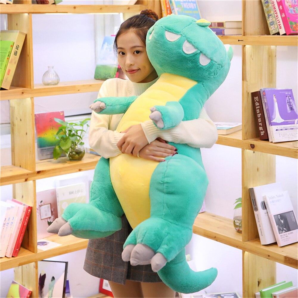 Новые 35/65 см милые плюшевые и мягкие игрушки динозавра мягкие Мультяшные куклы тираннозавр милые набивные игрушки для детей подарок на день...