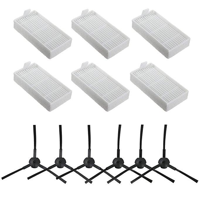 Accesorios piezas de repuesto para ILIFE V3 V5 V5s V3s V5s Pro V50 X5 v50 pro Robot aspirador filtro Hepa X6 + Cepillo Lateral X6