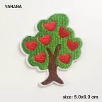 love tree apple tree green trees badges embroidered stickers iron on for jacket jeans decoration diy