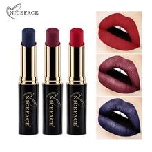 Niceface 24 Shades Farben Edle Matte Lippenstift Labiales Schönheit Bilden Langlebige Wasserdicht Metallic Nude Lippenstift Lip TSLM2