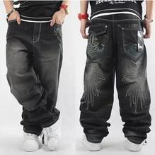 Herren Baggy Jeans Männer Breite Bein Denim Hosen Hip Hop 2021 Neue Mode Stickerei Skateboardfahrer Jeans Freies Verschiffen