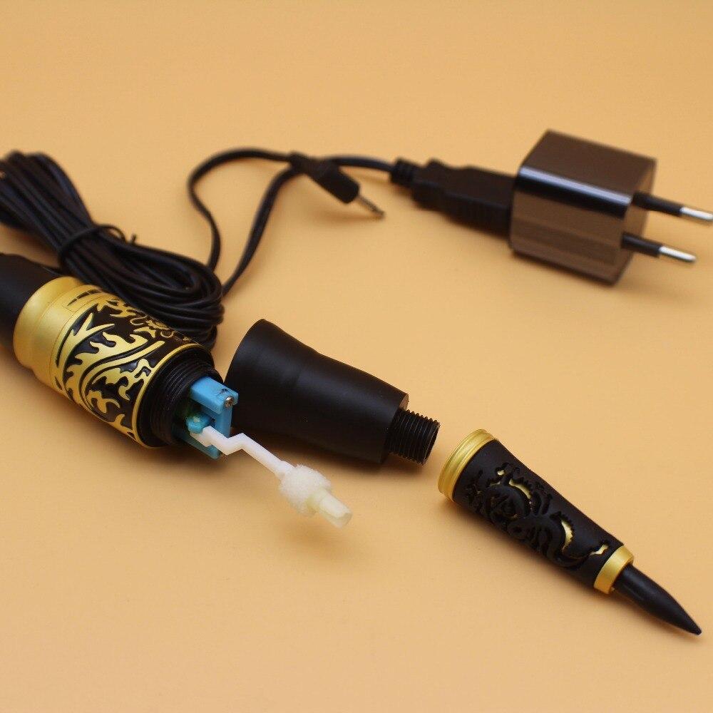 Máquina de tatuaje permanente de maquillaje dragón dorado, 1 Uds., delineador de cejas, labio, cosmético permanente, maquillaje, máquina de tatuaje