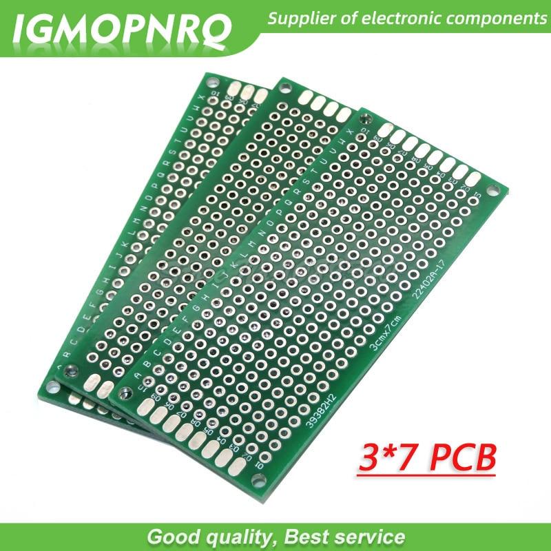 5pcs 3x7cm 3cmx7cm 3*7 Double Side Prototype PCB diy Universal Printed Circuit Board