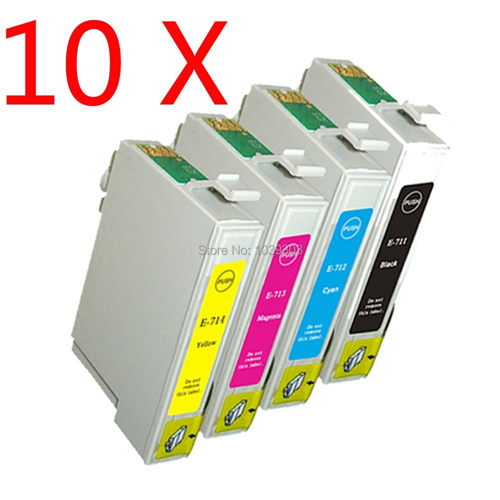 10x T0711 / T0712/T0713/cartucho de tinta Compatível para EPSON stylus SX100 T0714 SX105 SX200 SX205 SX405 SX400,T0891-T0894
