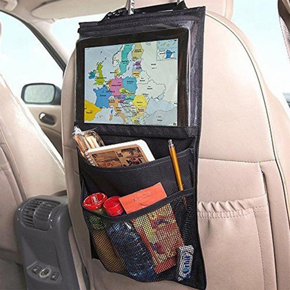 holder for your mobile phone Multi-Pocket Hanging Car Seat Back Storage Organizer Bag Holder for iPad Tablet